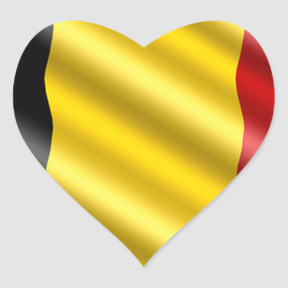 Sticker Cœur Drapeau de la Belgique