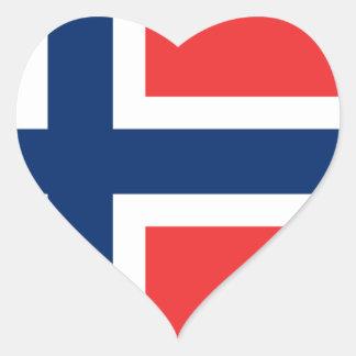 Sticker Cœur Drapeau de la Norvège