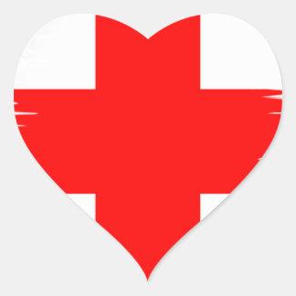 Sticker Cœur Drapeau de l'Angleterre