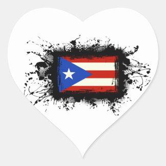Sticker Cœur Drapeau de Porto Rico