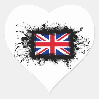 Sticker Cœur Drapeau du Royaume-Uni
