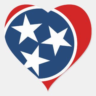 Sticker Cœur Drapeau du Tennessee