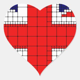 Sticker Cœur Drapeau R-U de cric des syndicats patriotique