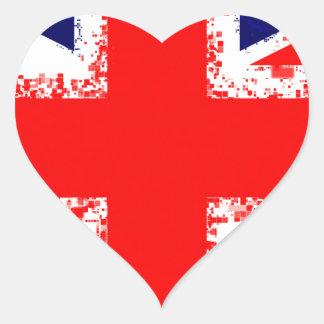 Sticker Cœur Drapeau R-U de Londres de cric des syndicats