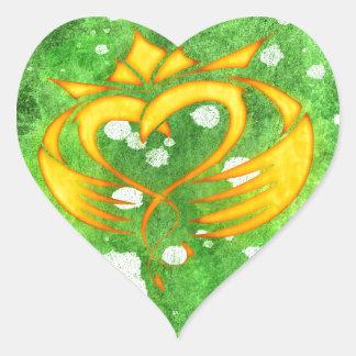 Sticker Cœur Éclaboussure celtique irlandaise de Claddagh