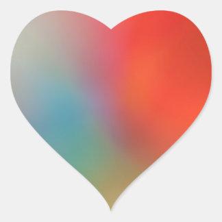 Sticker Cœur Éclaboussure d'autocollant de coeur de Valentine