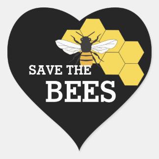 Sticker Cœur Économies d'apiculteur l'autocollant de coeur