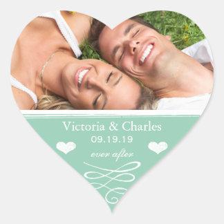 Sticker Cœur Économies de mariage de tableau de jade le joint