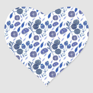 Sticker Cœur écrasement de myrtille