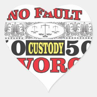 Sticker Cœur égalité 50 du divorce sans faute 50