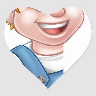 Sticker Cœur Électricien ou bricoleur tenant le tournevis
