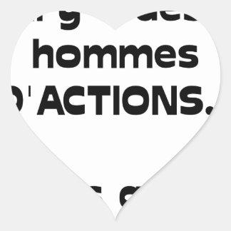 Sticker Cœur En BOURSE il y a des hommes d'ACTIONS, mais assis
