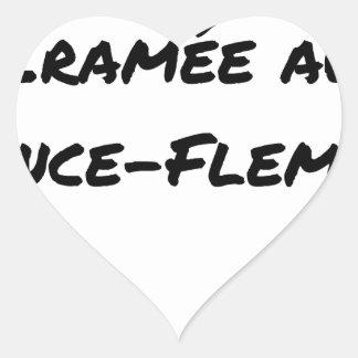 Sticker Cœur ÉNERGIE CRAMÉE AU LANCE-FLEMME - Jeux de mots