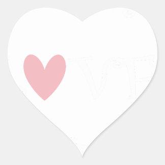 Sticker Cœur enseignez l'amour inspire2