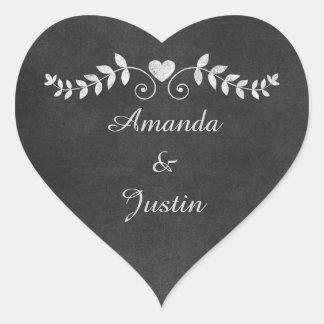 Sticker Cœur Enveloppe personnalisée par mariage de coeur de