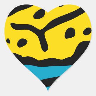 Sticker Cœur Éponge de trempage