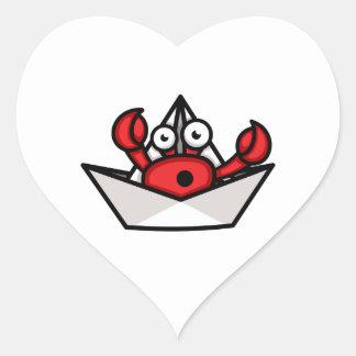 Sticker Cœur Ermite de crabe