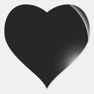 Sticker Cœur Éruption chromosphérique de fusée de Sun d'éclipse