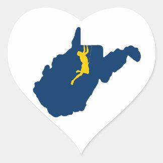Sticker Cœur Escalade de la Virginie Occidentale