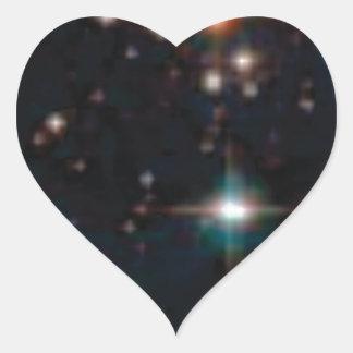 Sticker Cœur espace lointain