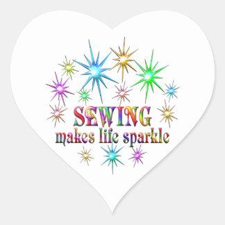 Sticker Cœur Étincelles de couture