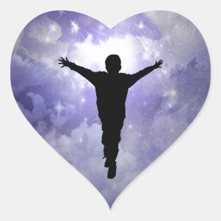 Sticker Cœur Étreinte de fils la lumière
