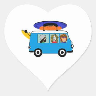 Sticker Cœur Expédition de kayak