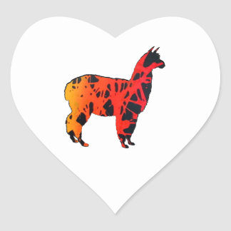 Sticker Cœur Expressions de lama