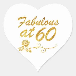 Sticker Cœur Fabuleux à 60 ans