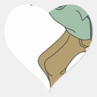 Sticker Cœur Faire de la planche à roulettes