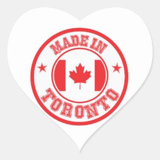 Sticker Cœur Fait à Toronto