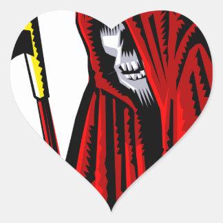 Sticker Cœur Faucheuse