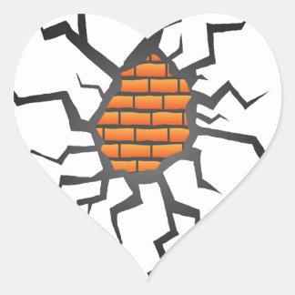 Sticker Cœur fente