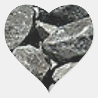 Sticker Cœur fermez-vous du gravier
