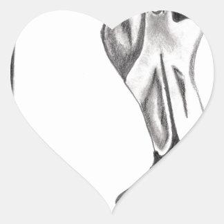 Sticker Cœur Flamant de fantaisie