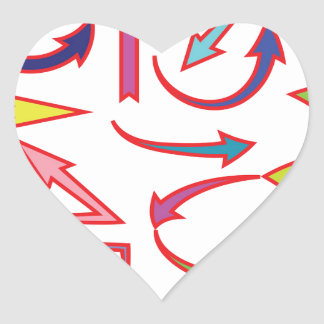 Sticker Cœur Flèches