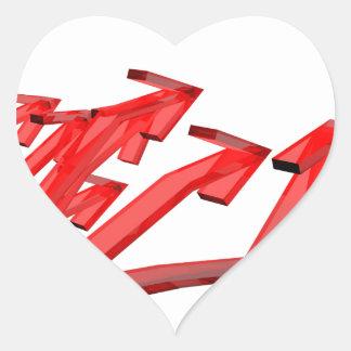 Sticker Cœur Flèches rouges