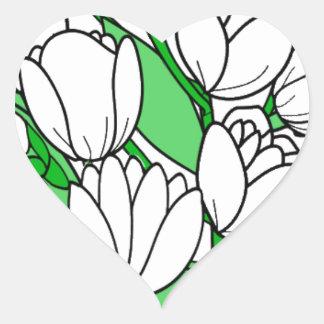 Sticker Cœur Fleur de jasmin