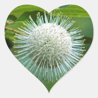 Sticker Cœur Fleur sauvage de Bush de bouton de l'Alabama