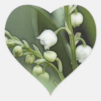 Sticker Cœur Fleurs du muguet