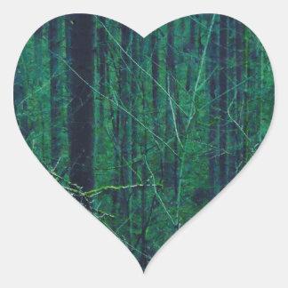 Sticker Cœur Forêt verte