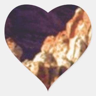Sticker Cœur formations de roche rouges dans la pierre