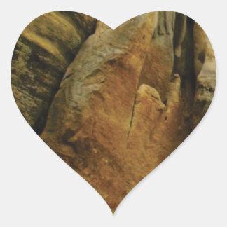 Sticker Cœur forme et forme de roche