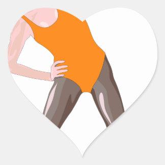 Sticker Cœur forme physique 80s