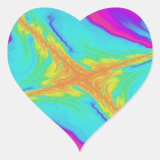 Sticker Cœur fractale sans sommeil de salut