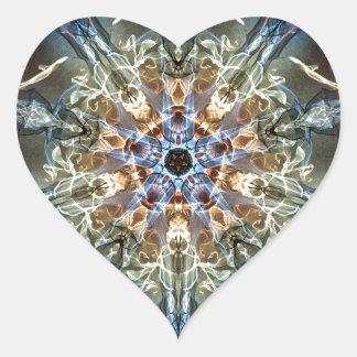 Sticker Cœur Fractales de fantaisie et d'amusement avec les