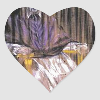 Sticker Cœur Francis Bacon - papes criards