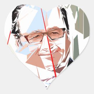 Sticker Cœur François Hollande