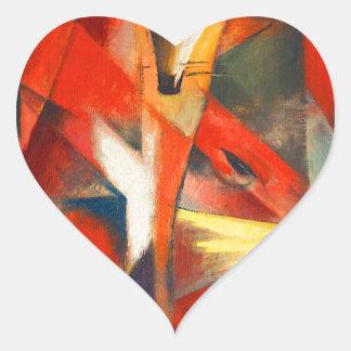 Sticker Cœur Franz Marc les renards