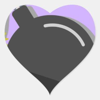 Sticker Cœur Fusée pour bombe